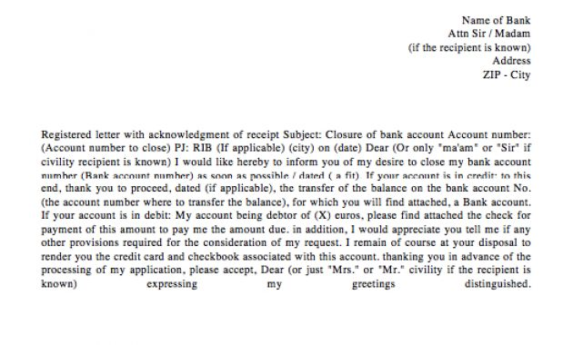 Bank Account Closing Letter Template (With Images) | Letter Intended For Account Closure Letter Template