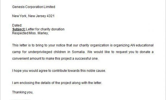 Charity Donation Request Letter | Donation Letter Template Pertaining To Letter Template For Donations Request