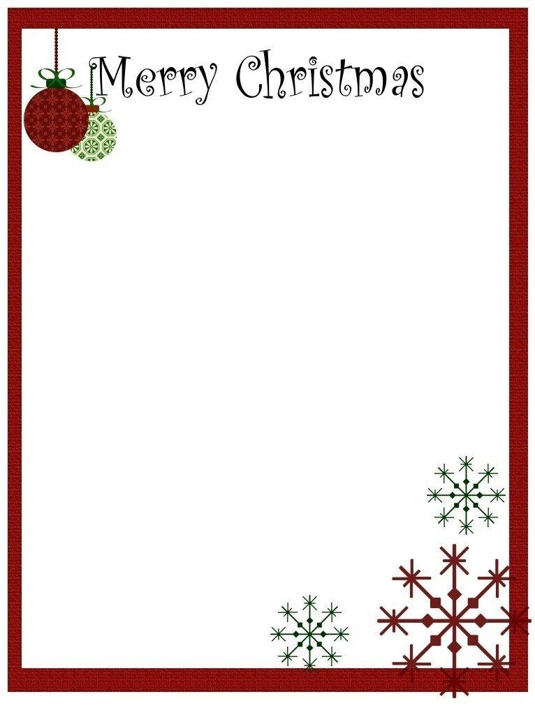 Christmas Letter Templates Microsoft Word Free | Webpixer With Christmas Letter Templates Free Printable