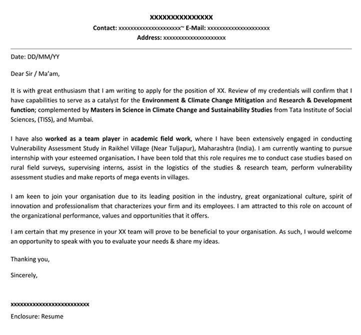 Cover Letter For Internship | Cover Letter Template – Naukri Regarding Internship Cover Letter Template