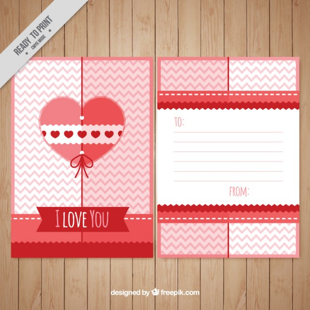 Cute Love Letter Template | Free Vector Regarding Template For Love Letter