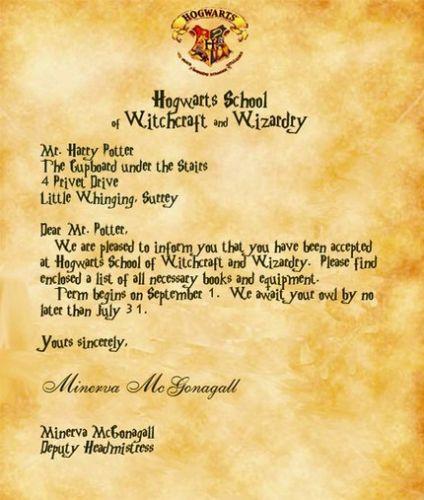 Dear Ms. Giorgia Rosamund. (With Images) | Harry Throughout Harry Potter Letter Template