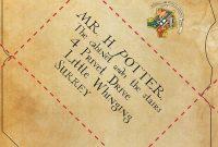 Diy Hogwarts Letter And Harry Potter Envelope And Hogwarts Seal With Harry Potter Letter Template