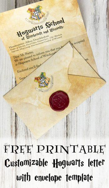 Diy Hogwarts Letter And Harry Potter Envelope And Hogwarts Seal Within Harry Potter Letter Template