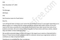 Donation Request Letter For Flood Victims / Relief regarding How To Write A Donation Request Letter Template