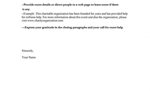Donation Request Letter Template: Download, Create, Fill pertaining to How To Write A Donation Request Letter Template