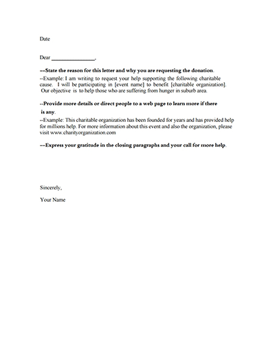 Donation Request Letter Template: Download, Create, Fill With Letter Template For Donations Request