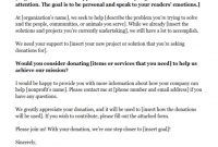 Donation Request Letters: Asking For Donations Made Easy inside How To Write A Donation Request Letter Template