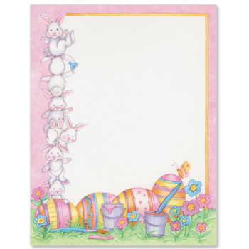 Easter Bunnies Letter Paper   Idea Art (Com Imagens)   Fundo Throughout Letter To Easter Bunny Template