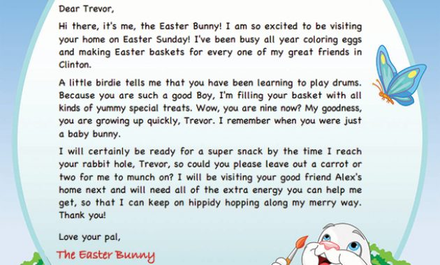 Easter Bunny Letter Template | Easter Bunny, Easter Bunny With Regard To Letter To Easter Bunny Template
