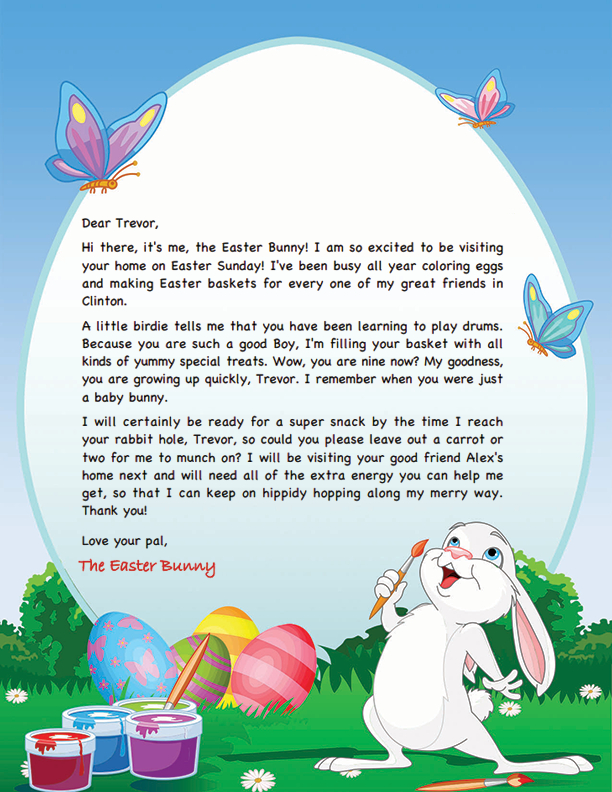 Easter Bunny Letter Template   Easter Bunny, Easter Bunny With Regard To Letter To Easter Bunny Template