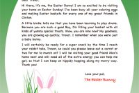 Easter Bunny Note Template Personalized Easter Bunny Letter Pertaining To Letter To Easter Bunny Template