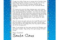 Easy Free Letters From Santa | Customize Your Text And with Free Printable Letter From Santa Template