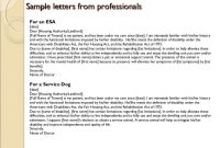 Emotional Support Animal Letter Template   Esa Prescription throughout Emotional Support Animal Letter Template
