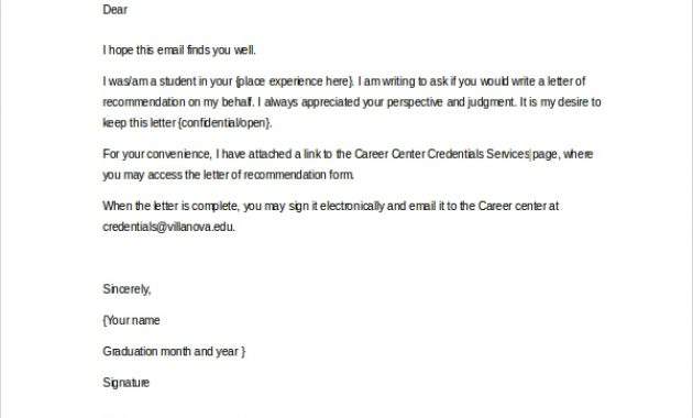 Free 20+ Sample Letter Of Recommendation In Ms Word   Pdf within Letter Of Recomendation Template