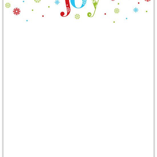 Free Christmas Stationery And Letterheads To Print Regarding Christmas Letter Templates Free Printable