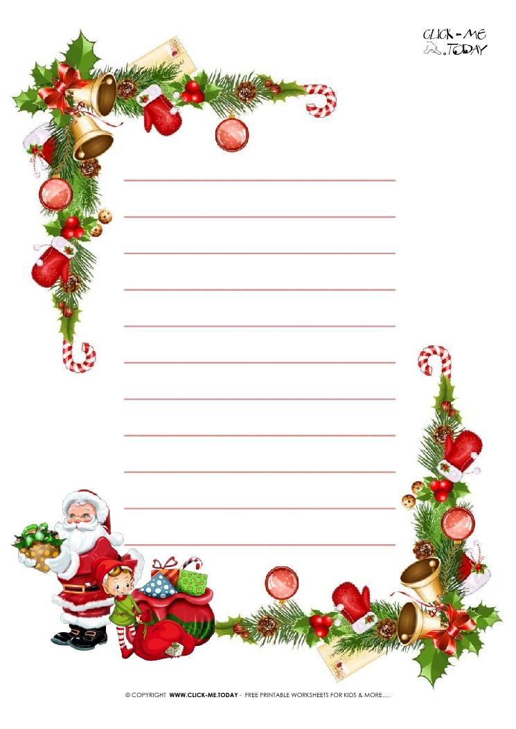 Free Printable Christmas Paper Letter To Santa Template With Regarding Christmas Letter Templates Free Printable