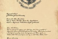 Free Printable Hogwarts Invitation Template | Harry Potter throughout Harry Potter Letter Template