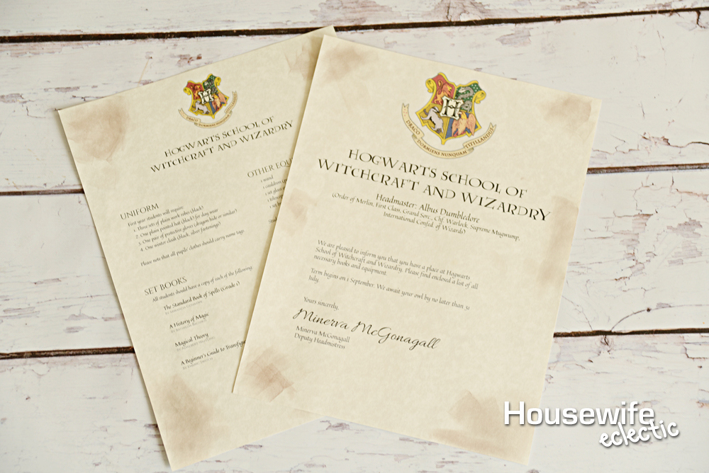 Free Printable Hogwarts Letter – Housewife Eclectic In Harry Potter Letter Template