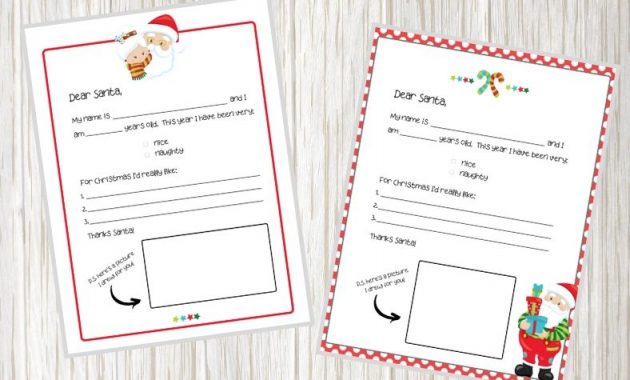 Free Printable Letter To Santa Template For Kids' Christmas for Free Printable Letter From Santa Template