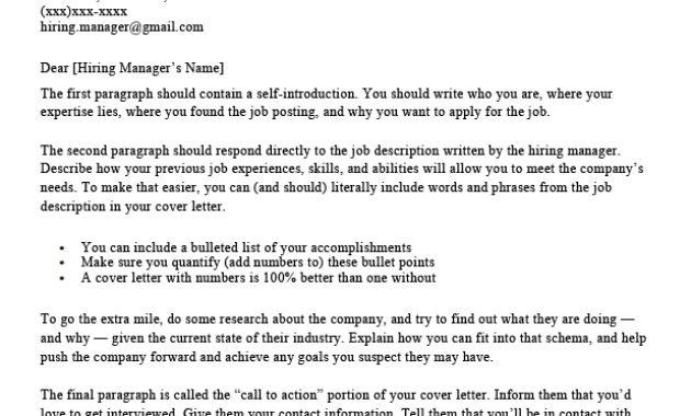 Google Docs Cover Letter Templates: 5+ Google Cover Letters with Google Cover Letter Template