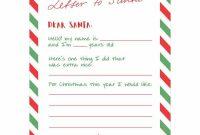 Letter To Santa {Free Printable} | Skip To My Lou with Free Printable Letter From Santa Template