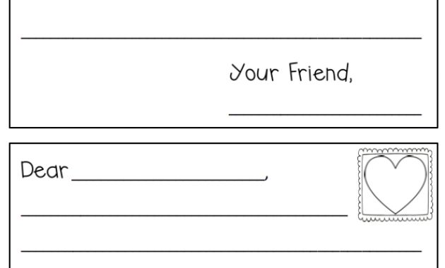 Letter Writing Template | Writing Templates | Letter Writing for Letter Writing Template For First Grade