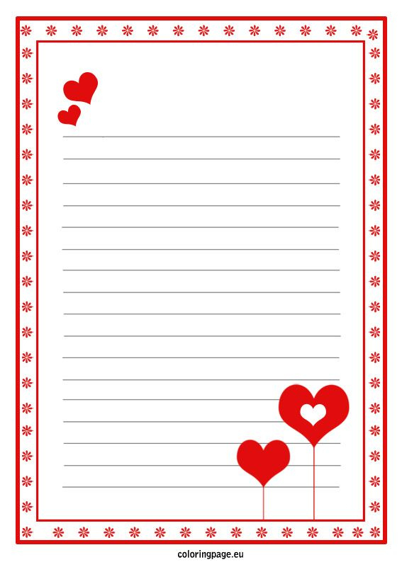 Love Letter Paper Template (Com Imagens) | Carta Dia Dos For Template For Love Letter