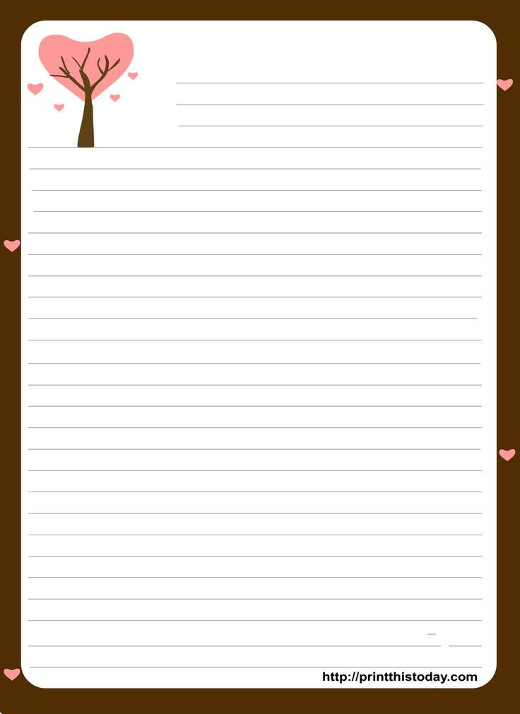 Love Letter Stationery Template - Google Search (With Images with regard to Template For Love Letter