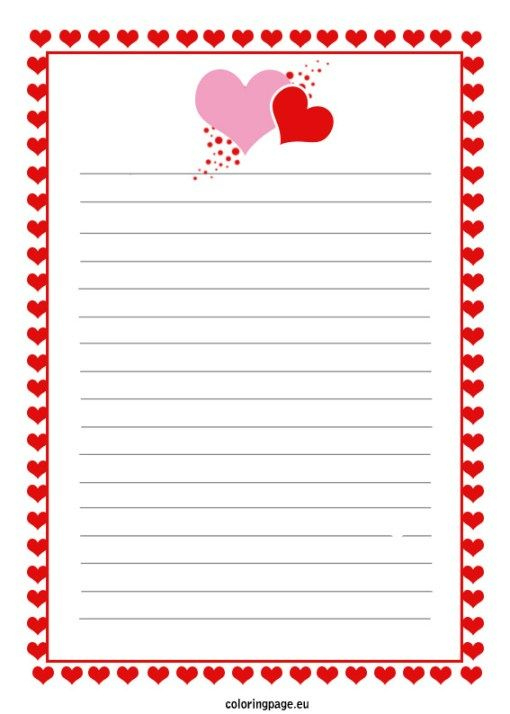 Love Letter Template | Lettering, Liebesbriefe, Briefvorlagen For Template For Love Letter