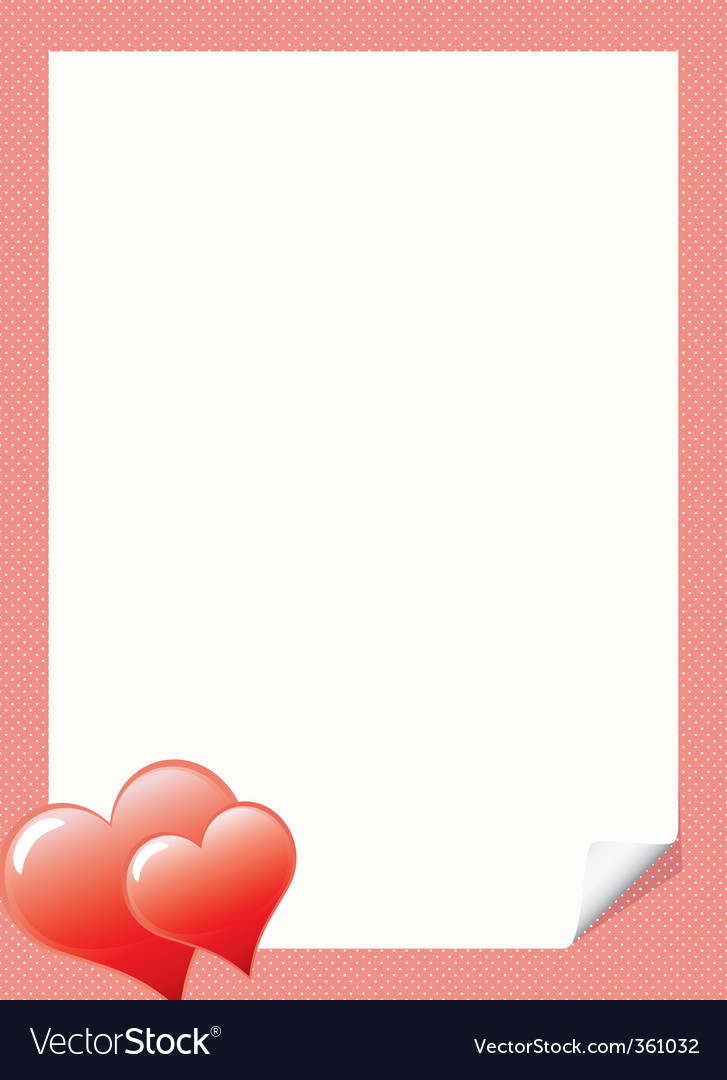 Love Letter Template With Hear With Regard To Template For Love Letter