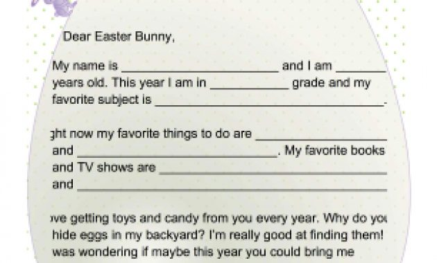 Printable Letter To The Easter Bunny (With Images) | Easter Intended For Letter To Easter Bunny Template
