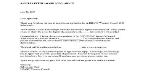 Sample Scholarship Award Letter Format – Assignment Point Regarding Scholarship Award Letter Template