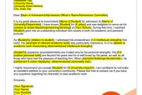 Student And Teacher Recommendation Letter Samples   4 regarding Letter Of Recomendation Template