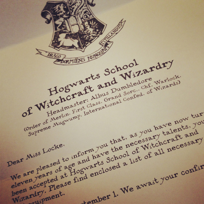 You've Been Accepted … To Hogwarts – Sean Locke Photography With Regard To Harry Potter Letter Template