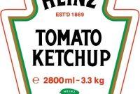 28 Heinz Ketchup Label Template In 2020 | Heinz Ketchup for Heinz Label Template