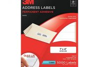 3M 3100-E Permanent Adhesive White Laser Mailing Labels inside 3M Label Templates
