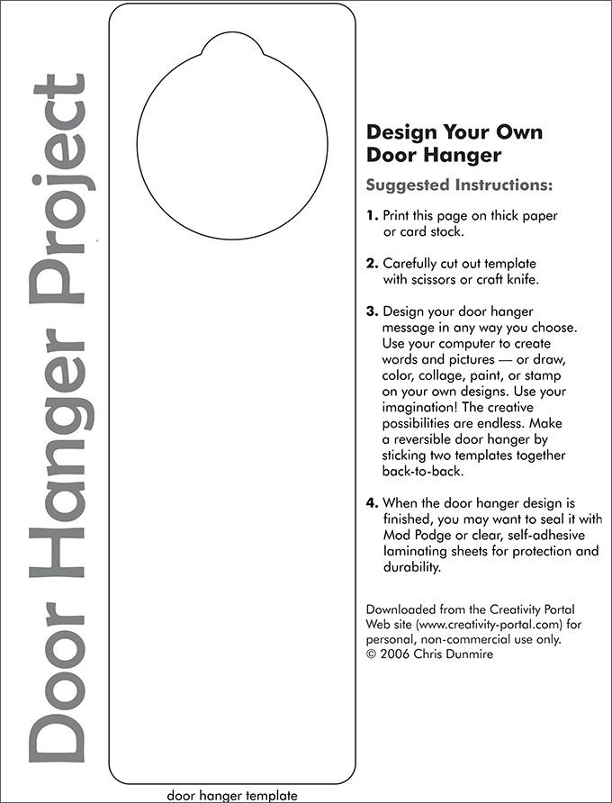 7+ Door Hanger Templates To Download & Print | Door Hanger Pertaining To Door Label Template
