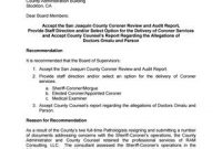 Administrator's Report On San Joaquin County Coroner's regarding Blank Autopsy Report Template