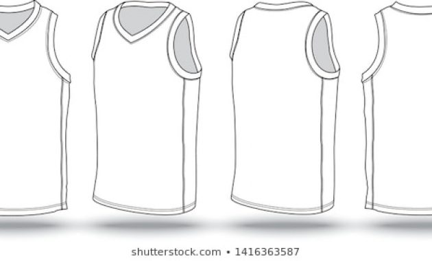 Basketball Jersey Template Images, Stock Photos & Vectors intended for Blank Basketball Uniform Template