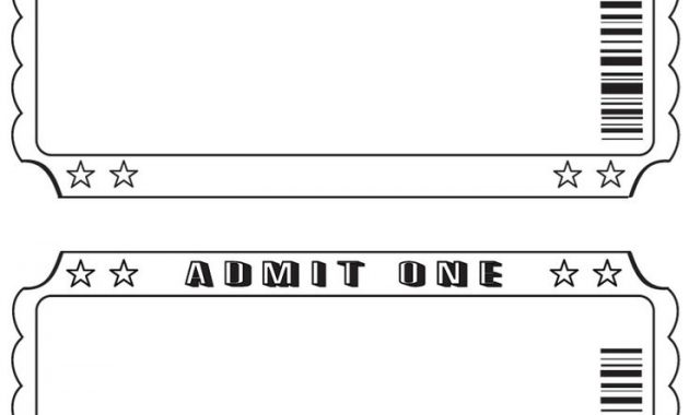 Blank Admission Ticket Template (3) | Professional Templates Regarding Blank Admission Ticket Template