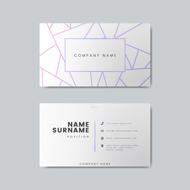 Blank Business Card Design Mockup | Free Psd File Throughout Blank Business Card Template Download