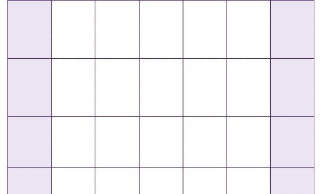 Blank Calendar Template – Free Printable Blank Calendars with Full Page Blank Calendar Template
