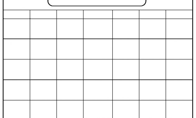 Blank Calendar Template- When Printing, Choose Landscape And intended for Full Page Blank Calendar Template