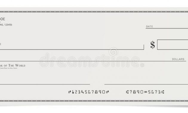 Blank Cheque Stock Illustrations – 1,616 Blank Cheque Stock for Large Blank Cheque Template