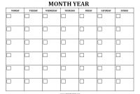Blank Monthly Calendar – Free Printable – Allfreeprintable for Full Page Blank Calendar Template