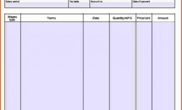 Blank Pay Stub Template Word Have Gathered Some Pay Stub within Blank Pay Stubs Template