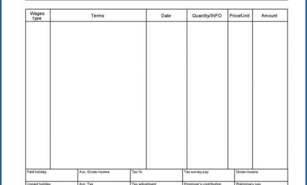 √ Free Printable Pay Stub Template   Templateral pertaining to Blank Pay Stubs Template