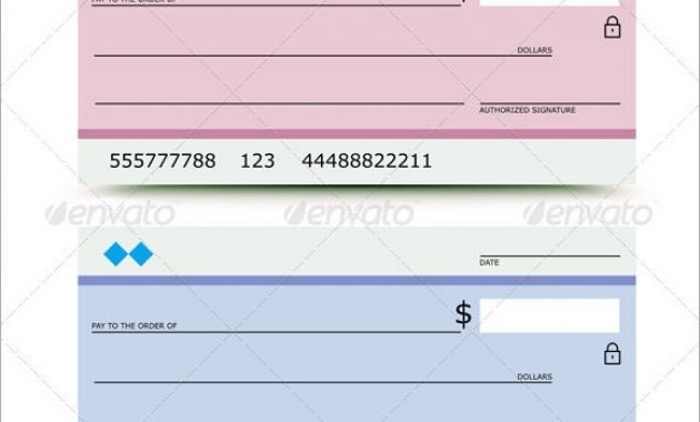 Free 5+ Blank Cheque Samples In Pdf | Psd within Large Blank Cheque Template