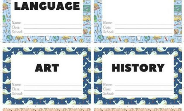 Free Cute Label Stickers For School With Blank Templates pertaining to Free Name Label Templates